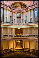 Old Courthouse rotunda with columns in diverse styles. Gateway Arch National Park ( color)