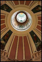 Dome roof interior, Old Courthouse. Gateway Arch National Park ( color)