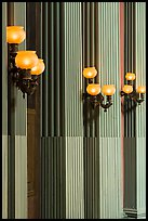 Detail of rotunda lights and columns, Old Courthouse. Gateway Arch National Park ( color)