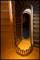 Looking down staircase, Old Courthouse. Gateway Arch National Park ( color)