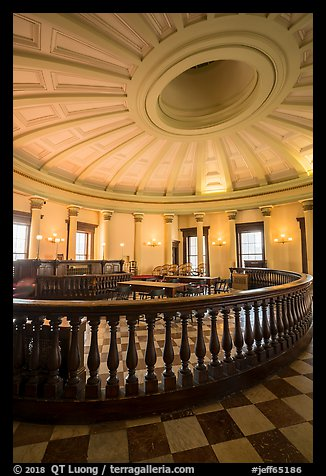 Circuit court 4 restored to 1850 appearance, Old Courthouse. Gateway Arch National Park (color)