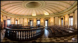 Historic circuit court, Old Courthouse. Gateway Arch National Park (Panoramic color)