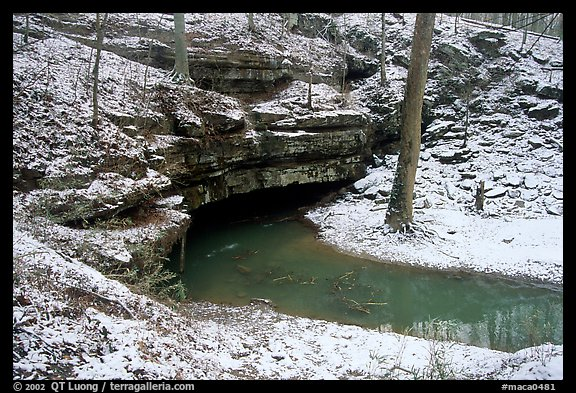 Styx resurgence in winter. Mammoth Cave National Park (color)