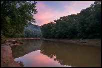 Green River at sunset, Houchin Ferry. Mammoth Cave National Park ( color)