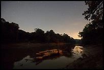 Green River at night, Houchin Ferry. Mammoth Cave National Park ( color)
