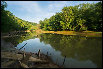 Calm waters of Green River, Houchin Ferry. Mammoth Cave National Park ( color)