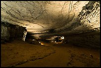 Large corridor near historic entrance. Mammoth Cave National Park ( color)