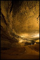 Passageway and cave ceiling. Mammoth Cave National Park ( color)
