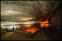 Vistors in Rotunda Room. Mammoth Cave National Park ( color)