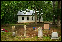 Mammoth Cave Baptist Church and cemetery. Mammoth Cave National Park ( color)