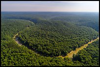 Aerial view of Turnhole Bend of the Green River. Mammoth Cave National Park ( color)