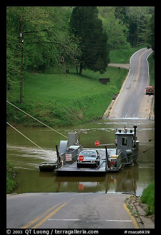 Green River ferry crossing. Mammoth Cave National Park (color)