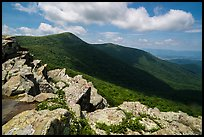 Crescent Rock and Hawksbill Mountain. Shenandoah National Park ( color)