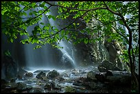 Ephemeral waterfall in Whiteoak Canyon. Shenandoah National Park ( color)