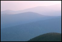 Hazy ridges, sunrise. Shenandoah National Park ( color)