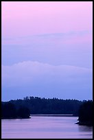 Kabetoga narrows at dusk. Voyageurs National Park ( color)