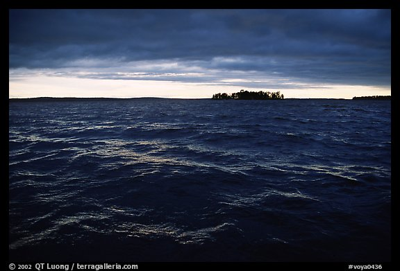 Choppy Kabetogama waters during a storm. Voyageurs National Park (color)
