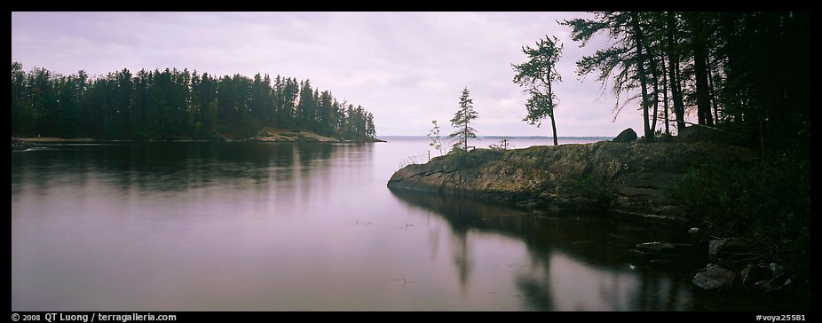 Forested cove. Voyageurs National Park (color)