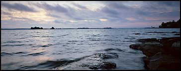 Lakeshore scenery. Voyageurs National Park (Panoramic color)