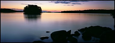 Calm evening over Kabetogama Lake. Voyageurs National Park (Panoramic color)