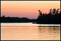 Water ripples and Bittersweet Island at sunset, Kabetogama Lake. Voyageurs National Park ( color)