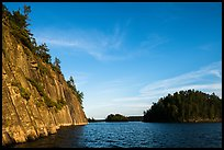 Grassy Bay Cliffs formed by Lac La Croix biotite granite batholith. Voyageurs National Park ( color)