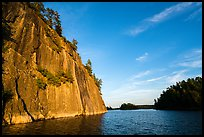 Grassy Bay Cliffs, late afternoon. Voyageurs National Park ( color)