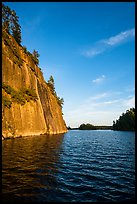 125 feet cliffs of Grassy Bay, Sand Point Lake. Voyageurs National Park ( color)