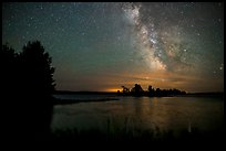 Milky Way from Houseboat Island, Sand Point Lake. Voyageurs National Park ( color)