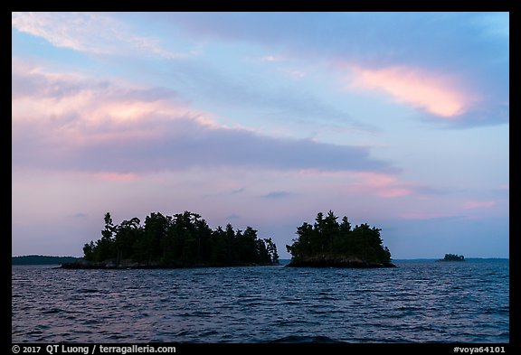 Islets at sunset, Rainy Lake. Voyageurs National Park (color)