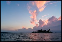 Islet and clouds at sunset, Rainy Lake. Voyageurs National Park ( color)