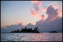 Islets and clouds at sunset, Rainy Lake. Voyageurs National Park ( color)