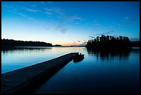 Dock and Anderson Bay at dawn. Voyageurs National Park ( color)