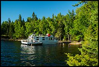 Houseboat, Rainy Lake. Voyageurs National Park ( color)