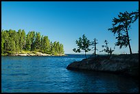 Windmill Rock Cove on sunny day. Voyageurs National Park ( color)