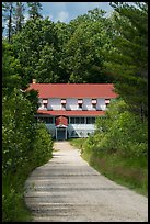 Path and Kettle Falls Hotel. Voyageurs National Park ( color)