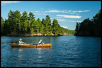 Canoists, Kings William Narrows. Voyageurs National Park ( color)
