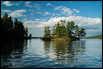 North Woods islet and reflection, Sand Point Lake. Voyageurs National Park ( color)