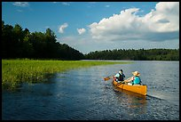 Canoing in Sand Point Lake. Voyageurs National Park ( color)