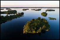 Aerial view of Chief Woodenfrog islands, Kabetogama Lake. Voyageurs National Park ( color)