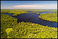 Aerial view of Old Dutch Bay, Namakan Lake. Voyageurs National Park ( color)
