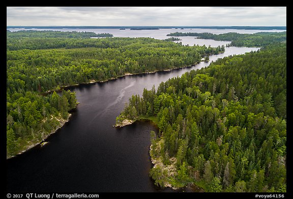 Aerial view of Kettle Channel, Rainy Lake. Voyageurs National Park (color)