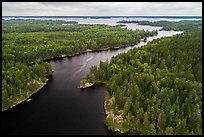 Aerial view of Kettle Channel, Rainy Lake. Voyageurs National Park ( color)