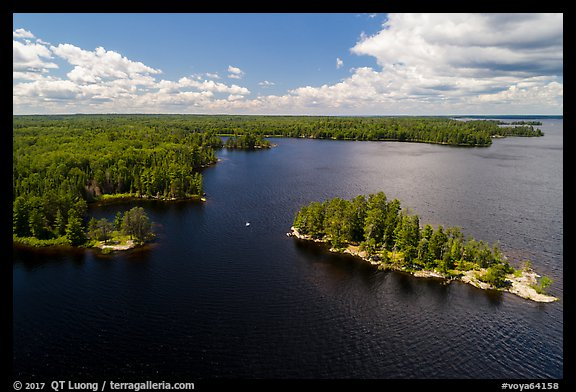 Aerial view of Surveyors Island, Rainy Lake. Voyageurs National Park (color)