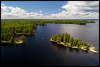Aerial view of Surveyors Island, Rainy Lake. Voyageurs National Park ( color)