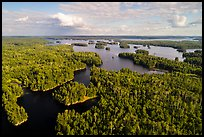 Aerial view of Namakan Narrows, Namakan Lake. Voyageurs National Park ( color)