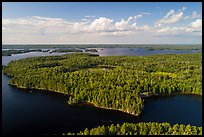 Aerial view of Namakan Narrows. Voyageurs National Park ( color)