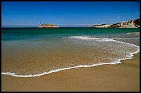 Beach, Cuyler Harbor, mid-day, San Miguel Island. Channel Islands National Park, California, USA.