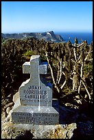 Cabrillo monument above Cuyler Harbor, San Miguel Island. Channel Islands National Park, California, USA. (color)