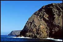 Sea cliffs, Santa Cruz Island. Channel Islands National Park, California, USA. (color)